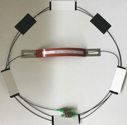 T210 FBG Crack and Vibration Sensor Top View 1